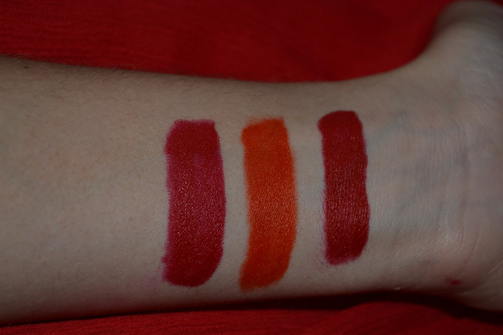 Swatches with flash Left to right: Blake, Doutzen, J.Lo