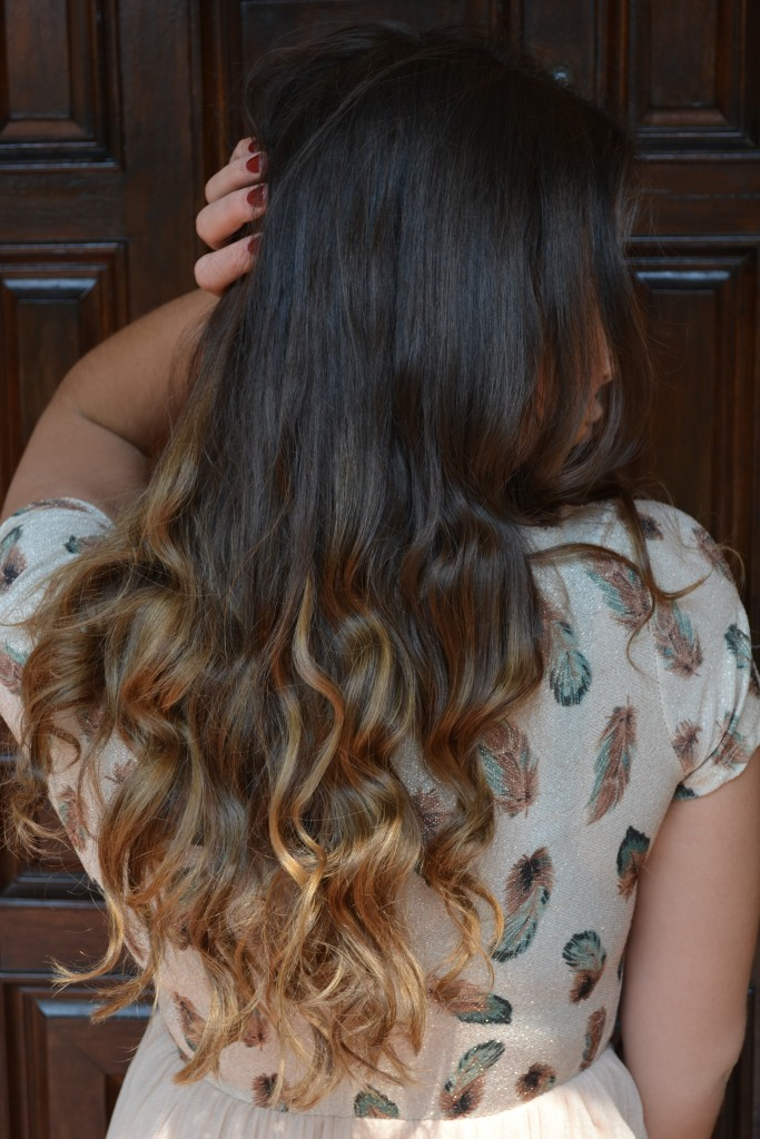 what the ombre looks like from the back