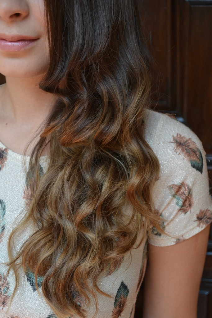 What the ombre looks like from the side
