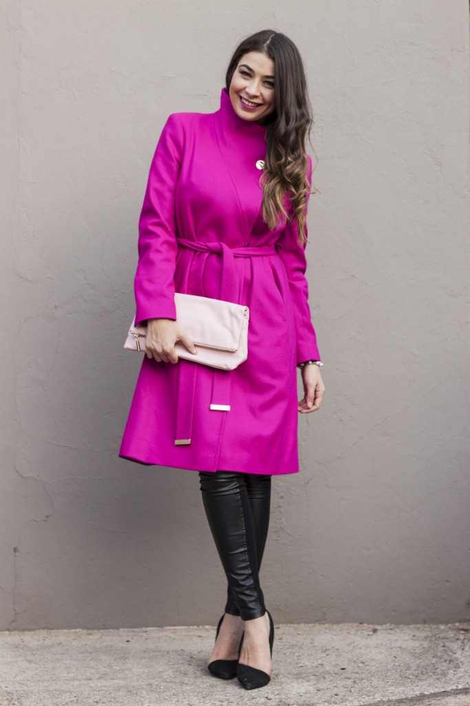 pink ted baker coat