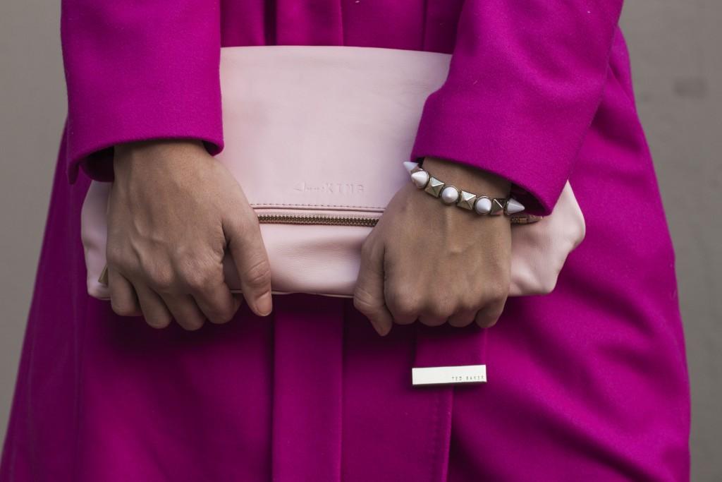 pink ted baker coat