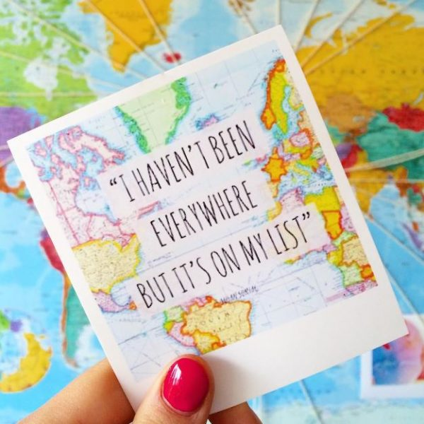 Wanderlust travel tag graphic